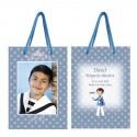 Bolsa para niño personalizada en azul