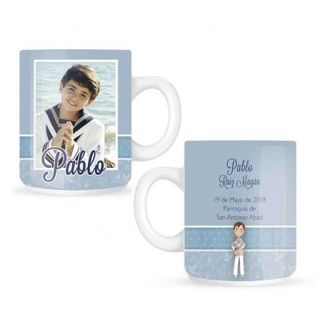 Taza mug niño Comunión personalizada con foto