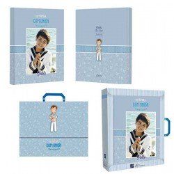 Libro de firmas Comunión personalizado Niño, opción A