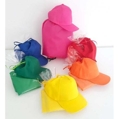 Set para eventos o cumpleaños infantiles gorra y mochila