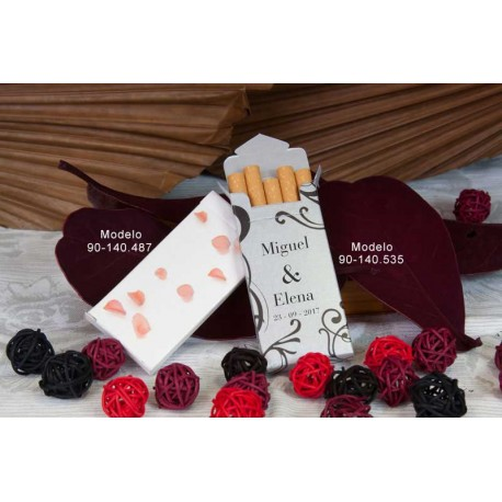 Cajetillas para cigarrillos Bouquet, personalizables