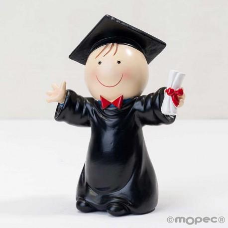 Figura tarta chico graduado