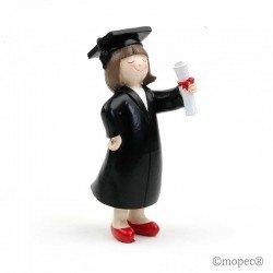 Figura de pastel graduación chica