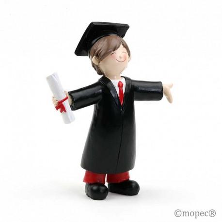 Figura para tarta de graduación, chico