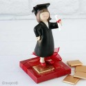Figura graduación chica con 8 napolitanas