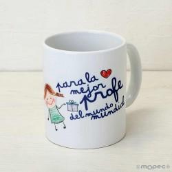 Taza cerámica La Mejor profe en caja regalo