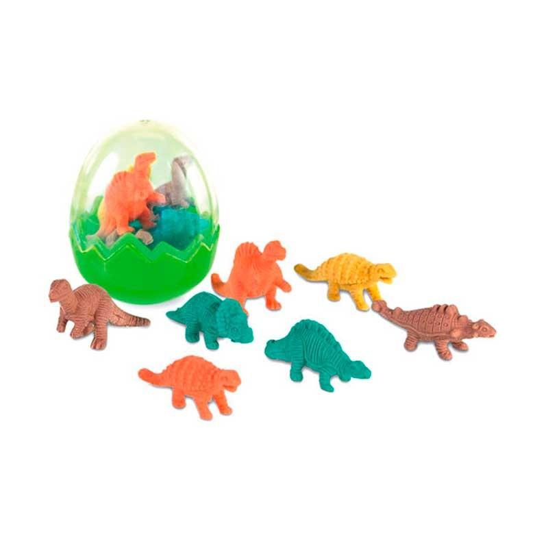 Gomas de borrar dinos en huevo. Detalles divertidos y originales.