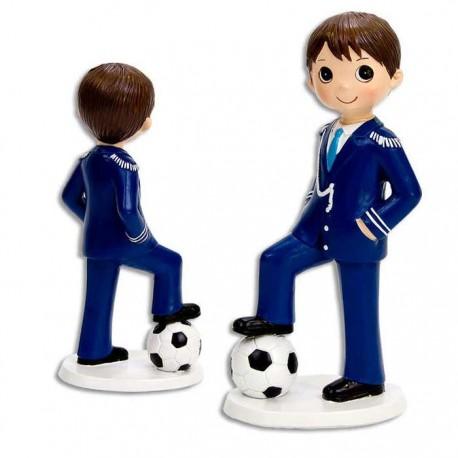 Muñeco para tarta Comunión niño con balón