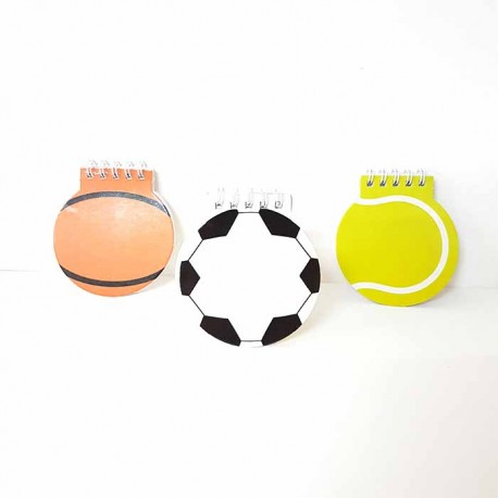 Original libreta con forma de balón o pelota d866329d40ef9
