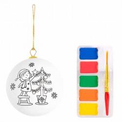 Bola navideña para pintar