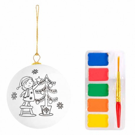 Adorno navideño para pintar