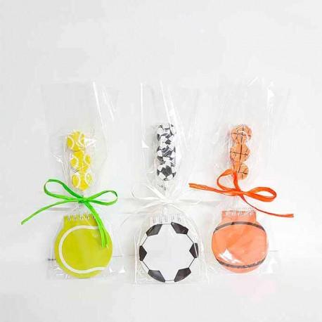 Set de libreta y lapiz con gomas con forma de balones