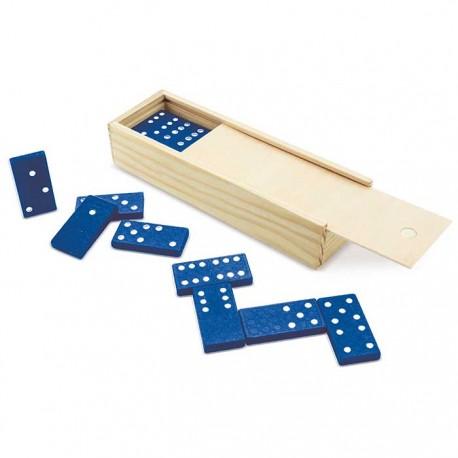 Domino de plástico color azul
