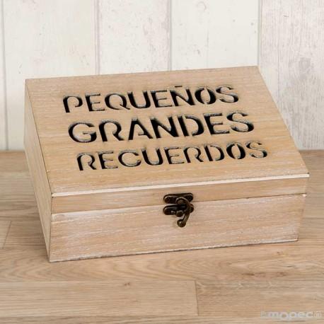 Cofre de madera para guardar deseos de los invitados