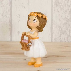 Figura niña paje con cesta