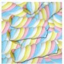 Bolsa con 8 nubes multicolor trenzadas