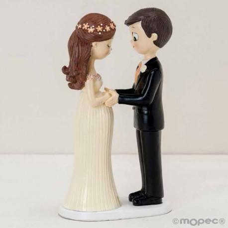 Figura para tarta de boda con la novia embarazada
