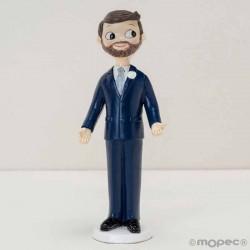 Figura de novio con barba combinable
