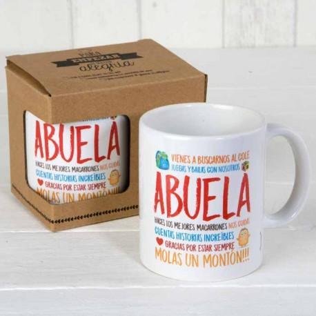 Taza cerámica Abuela en caja regalo ¡Molas un montón!