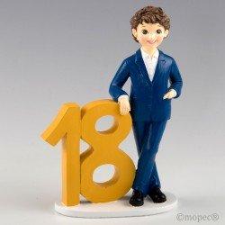 Figura para pastel 18 aniversario Chico chaqueta azul