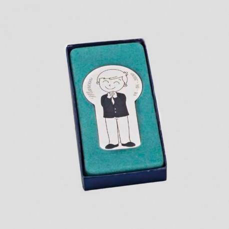 Imán niño con traje de comunión en caja regalo
