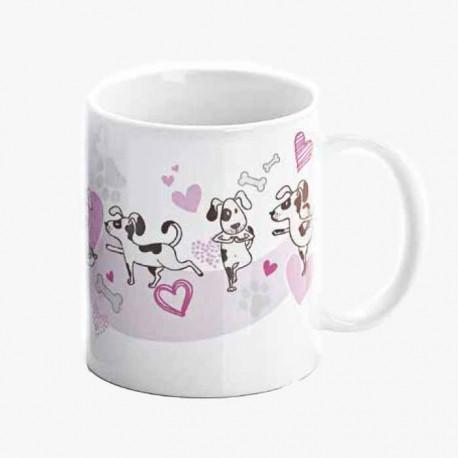 Reverso sin personalizar de la taza regalo para boda, adoro mi mascota
