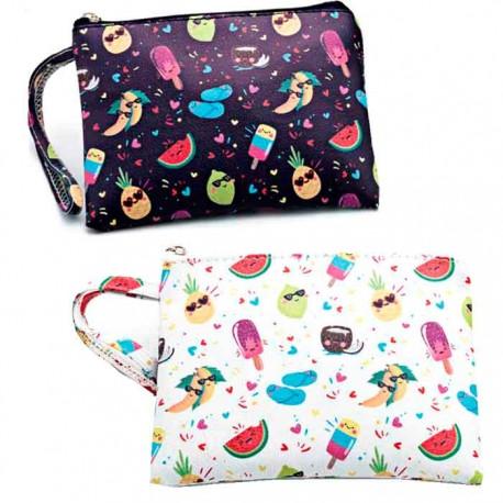 8da06b933d75 Neceser estampado con frutas y helados