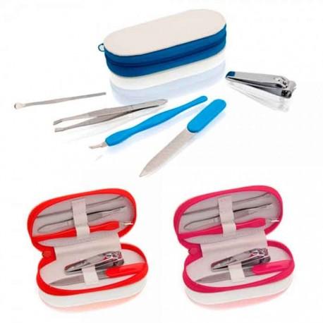 Set con 5 accesorios de manicura y estuche
