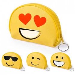 Monedero Emoji con divertidas caras