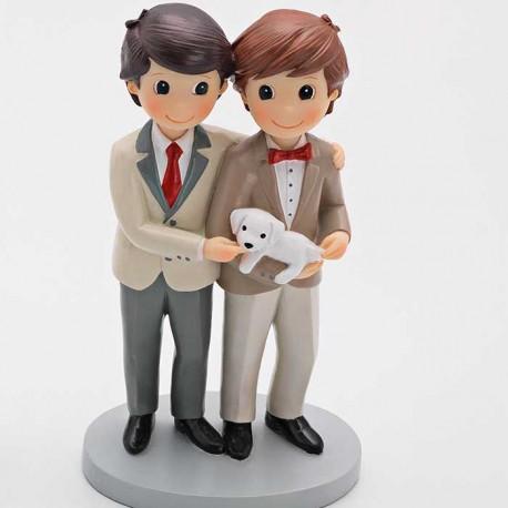Figura para tarta gays con mascota