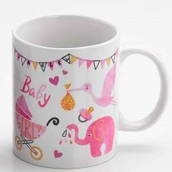 Taza personalizable regalo con motivos de bebé, rosa