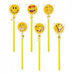 Pack seis lápices con goma grande emoji