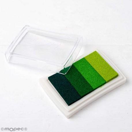Almohadilla de tinta para Huella Dactilar, 4 tonos de verde
