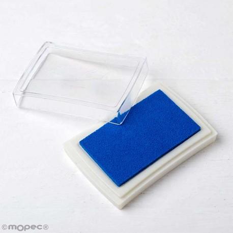 Almohadilla de tinta azul para sellos o Scrapbooking