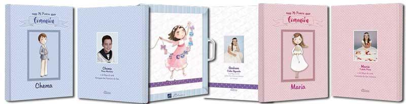 Libros de firmas de comunión personalizados para comunión