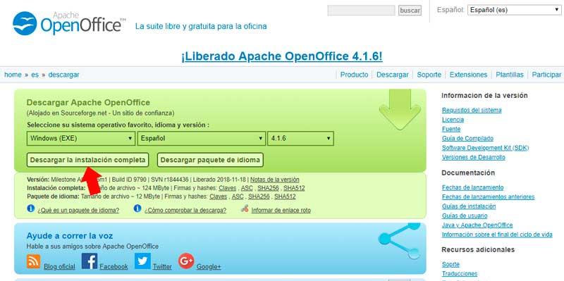 Escoge el sistema operativo, idioma y versión