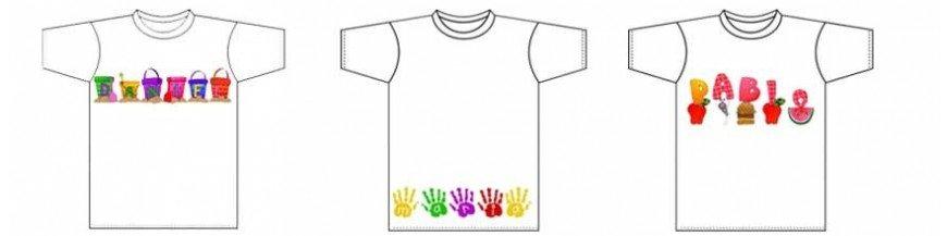 Camisetas infantiles personalizadas Personalizamos camisetas con el nombre de los niños en diferentes motivos coloridos y llamativos. Simplemente danos la talla que quieras, el nombre del niño o niña que desees que aparezca y el tipo de letra que...