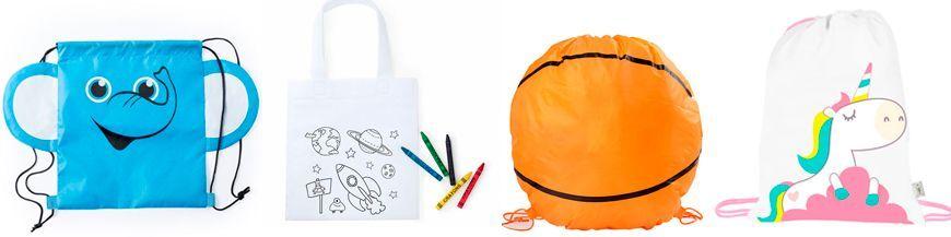 Mochilas infantiles en diferentes formas, colores y acabados. Qué te parecen estas mochilas tan originales. Son una buena idea para regalar a los compis de clase y a los amigos de tu hijo en el día de su cumpleaños. Nuestros precios te sorprenderán y...