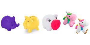 Eventos Infantiles Regalos para cumplea/ños Incluye Ceras para colorearla Fiestas con ni/ños. The Collection Lote de 6 Huchas con Forma bal/ón de f/útbol