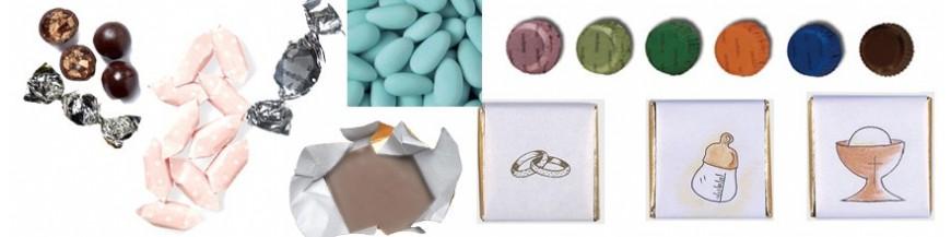 Complementos para los detalles Acompaña tus detalles con deliciosos bombones, caramelos o peladillas.