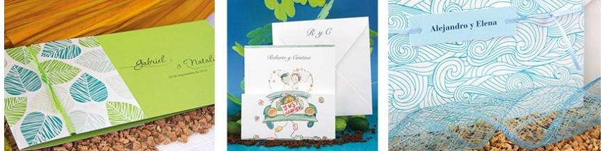 Invitaciones de boda colección FRESCURA Las invitaciones de boda de la Colección FRESCURA, son invitaciones joviales, simpaticas, originales y a unos precios fantásticos