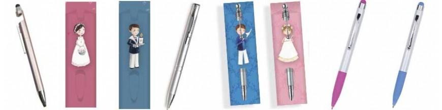 Bolígrafos, detalles de comunión El bolígrafo es un regalo clásico para invitados, pero que nunca pasa de moda por su utilidad. Los hay de muchos diseños, colores o formas. Pueden ir dirigidos a hombres, mujeres o niños. Una bonita presentación...