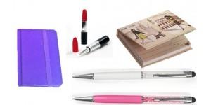 Bolígrafos y Bloc de notas