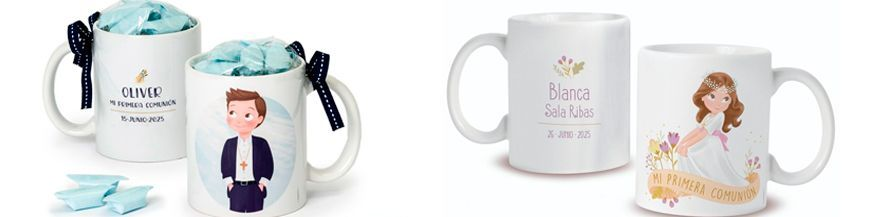 Tazas personalizadas comunión Tazas o mug para desayuno personalizadas con foto y texto Primera Comunión. Un bonito recuerdo de la comunión