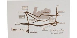 Tarjetas de visita y otras para acompañar a las invitaciones de boda