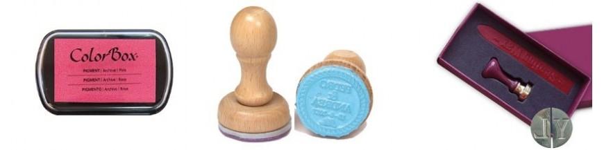 Sellos de caucho especial boda Sellos personalizados para bodas, tinta para sellos y estuches de sellos personalizados. Personaliza tu sello con los nombres de los novios y fecha del enlace.