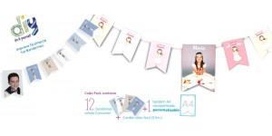 Banderines para decorar Fiesta de Comunión