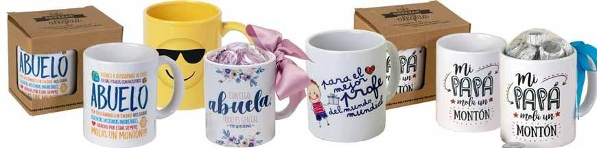 Tazas para regalo Tazas de cerámica y porcelana con frases molonas para regalar, diferentes modelos con mensajes para todo tipo de personas y ocasiones.