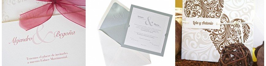 Originales invitaciones de Boda Te presentamos una gran muestra de nuestras colecciones de invitaciones de boda, navega y descubre la que más se amolde a tus gustos y necesidades. Encontrarás modelos que abarcan desde los más elegantes y sofisticados...