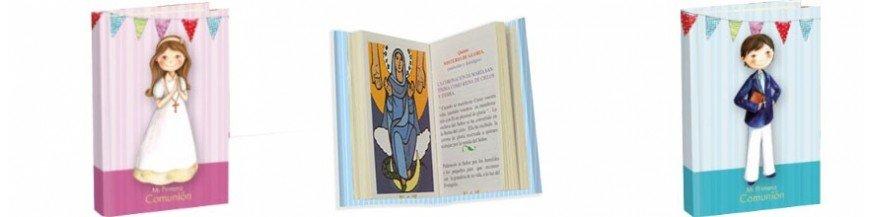 Misal Primera Comunión. Misal primera comunión con textos liturgicos, oraciones e ilustraciones. Encuentre el modelo que mas le guste en nuestro catálogo de misales de comunión para un día tan especial.